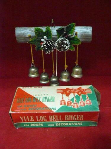 VINTAGE YULE LOG 5 BELL RINGER CRITERION STYLE No. 83 ORIGINAL BOX