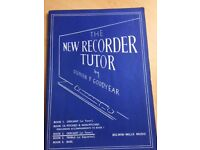 The New Recorder Tutor by Stephen Goodyear