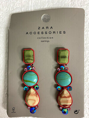 Zara Accessories Collection EARRINGS 1856/014/600 - Brand New
