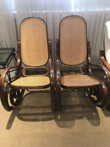 Pair of Bentwood Style Rocking Chairs