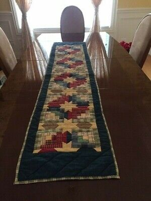 Quilt Table Runner ---COTTON HAND STITCHED  ----70 x 16 inches  NEW -NEVER USED