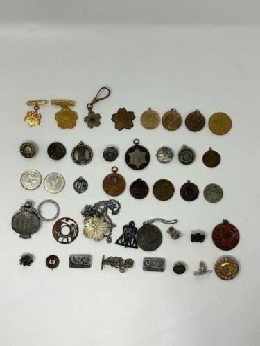 40 Random Japanese Medal Badge Pin Investor Lot Japan Military Civilian