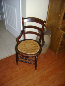 Antique ladies Chair with Cane Seat