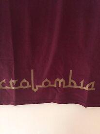 crolombia burgundy t-shirt s m l xl