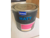 Wickes Vinyl Emulsion - Candy, 3x 2.5L Unopened