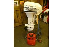 Johnson 15 hp 2 stroke outboard short shaft. Spares or repair.