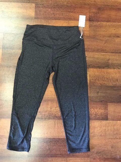 Mirity cropped grey yoga athletic legging NWT Medium