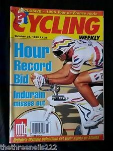 CYCLING-WEEKLY-HOUR-RECORD-BID-OCT-21-1995