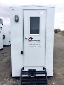 All Weather Portable Washrooms. Hot Water & Flushing Toilets