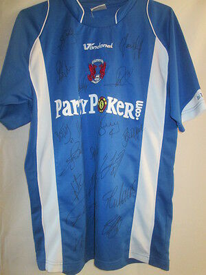 Leyton Orient 2007-2008 Squad Signed Away Football Shirt COA /15620 image