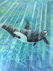 Killer whale orignal painting