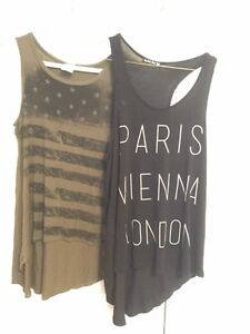 Loose oversized baggy hip hop dance style tank tops