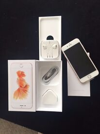 Brand new Apple IPhone in Rose Gold, 32 GB memory, boxed with all accessories and protectie film