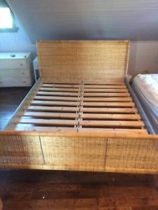 Base de lit en osier QUEEN IKEA - LADE