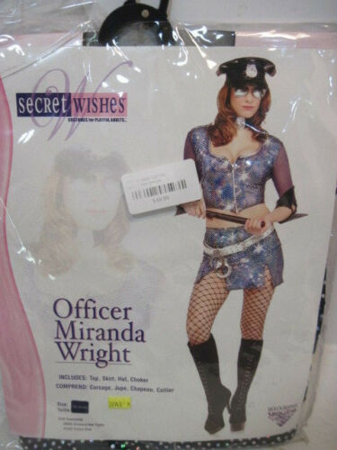 NIB ADULT WOMENS MED 10-12 OFFICER MIRANDA WRIGHT HALLOWEEN COSTUME