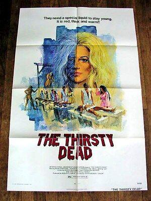THE THIRSTY DEAD Vintage CULT HORROR Movie Film Poster JENNIFER BILLINGSLEY