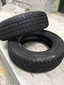 Car Tyres - nearly new condition