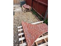 Excellent brick and quarry tile fire place surround and hearth