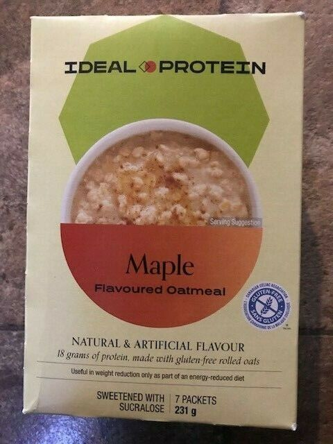 Ideal Protein maple Oatmeal 7 packets 18 g protein