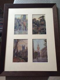 Postcards framed