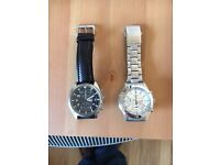 Two Seiko Chronograph watches 100m Water Resistant