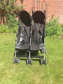 Mamas & Papas Swirl Double Pushchair (Black)
