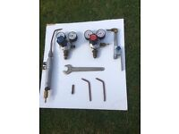 COMPLETE OXY ACETYLENE TORCH AND GAUGE SET