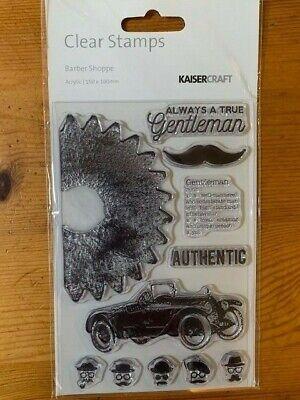 Kaisercraft Barber Shoppe Clear Stamp Set - 155mm x 105mm,  11 stamps, CS269