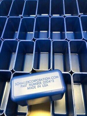 72 2x4x3 Deep Blue Plastic Boxes-lista Vidmar Toolbox Organizer Box Cups