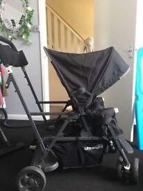 Ultralight Joovy Caboose double buggy