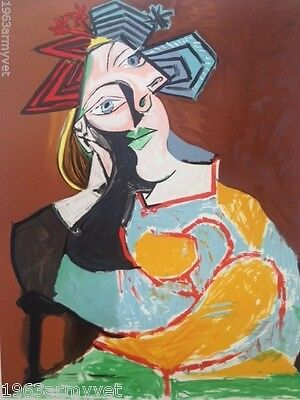 """NEW Pablo Picasso Signed and Numbered Lithograph """"Femme Accoudee"""""""