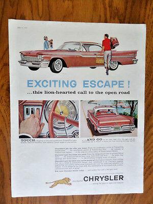 1959 Chrysler Windsor Hardtop Ad Touch & Go