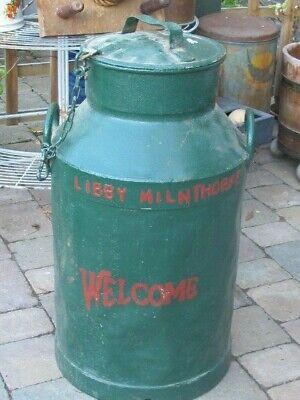 Vintage Old Large Westmorland Libby Milnthorpe Milk Churn Garden Prop Display