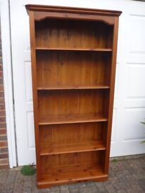 Solid Pine Bookcase in VGC