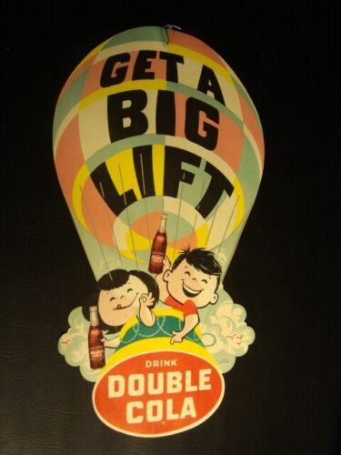 Circa 1940s Double Cola Balloon Double-Sided String Hanger – Large Version