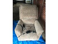 Rise and recline electric chair.