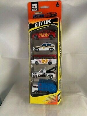 Matchbox 1996 City Life 5 Pack - Exclusive Design - Astra Police  Rare HTF MB