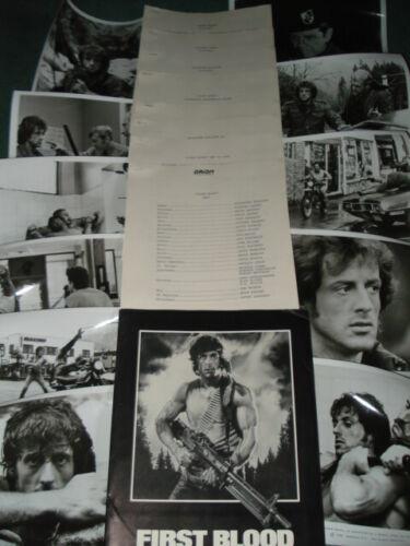 FIRST BLOOD Original 1982 Press Kit w/Stills Sylvester Stallone & Richard Crenna