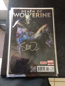 Set of 4 Death of Wolverine comics (Issue #4 signed)