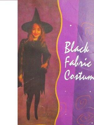 Schwarzes Hexenkostüm für Mädchen Karneval Halloween NO122G ()