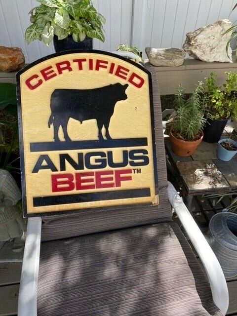 Certified Angus Beef Sign Real Original Dealer Sign Double Sided 3D Advertising