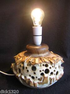 VINTAGE SHELF STUDIO POTTERY HALIFAX RETRO TABLE LAMP EX c.1970's