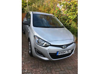Hyundai i20 64 reg manual petrol. 5 door Silver