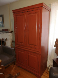 Tall attractive painted storage cabinet  for sale