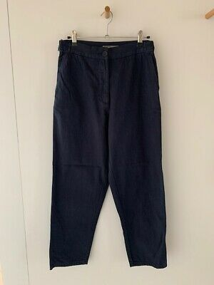 Jac and + Jack Constructor navy cotton twill straight leg pants trousers size 8