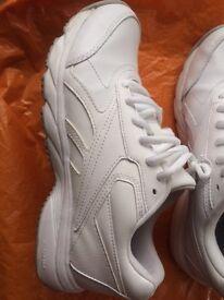 Reebok White Leather Women's Walking Trainers
