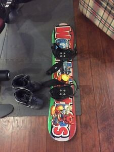 135 World Industries Snowboard and Boots