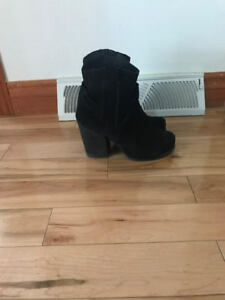 Jeffrey Campbell Suede Booties $40