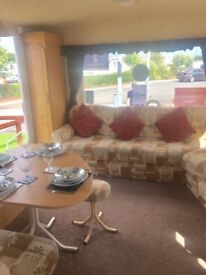 PRE-OWNED STATIC CARAVAN FOR SALE WHITLEY BAY HOLIDAY PARK SITE FEES INCLUDED COASTAL LOCATION