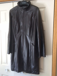 Brand New, Lined Leather Coat from Danier